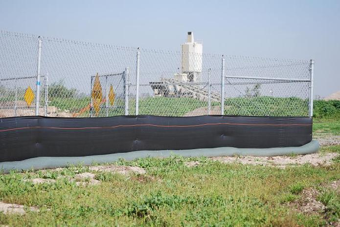 Silt Fence with Continuous SandBag